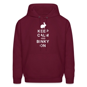 'Keep Calm & Binky On' Men's/Unisex Sweatshirt  - Men's Hoodie