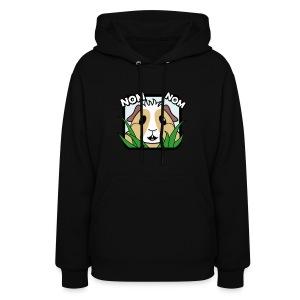 'Nom Nom' Guinea Pig Women's Hooded Sweatshirt - Women's Hoodie