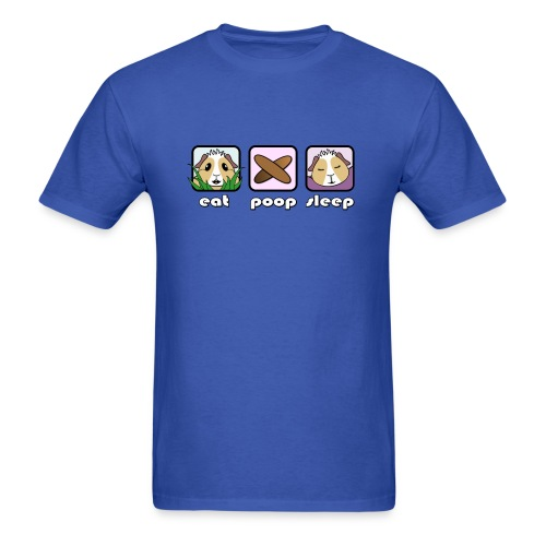 'Eat Poop Sleep' Guinea Pig Men's T-Shirt - Men's T-Shirt