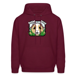 'Nom Nom' Guinea Pig Men's Hooded Sweatshirt - Men's Hoodie