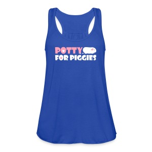 'Potty for Piggies' Tank/Vest Top  - Women's Flowy Tank Top by Bella
