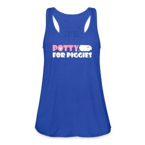 'Potty for Piggies' Tank/Vest Top  - Women's Flowy Tank Top by Bella