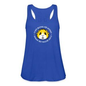 'Crazy Guinea Pig Woman' Vest/Tank Top - Women's Flowy Tank Top by Bella