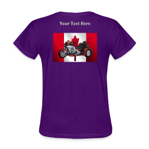 Ladies T Bk CaFlag Wingtrike Custom - Women's T-Shirt
