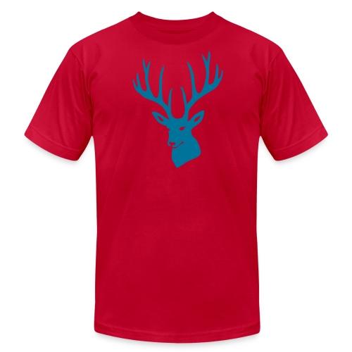 animal t-shirt stag antler cervine deer buck night hunter bachelor - Men's Jersey T-Shirt