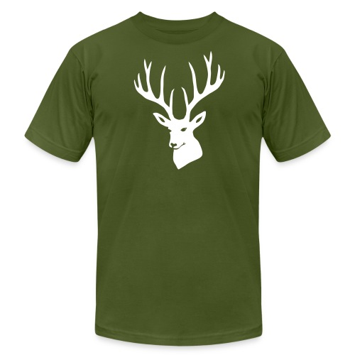 animal t-shirt stag antler cervine deer buck night hunter bachelor - Men's Fine Jersey T-Shirt