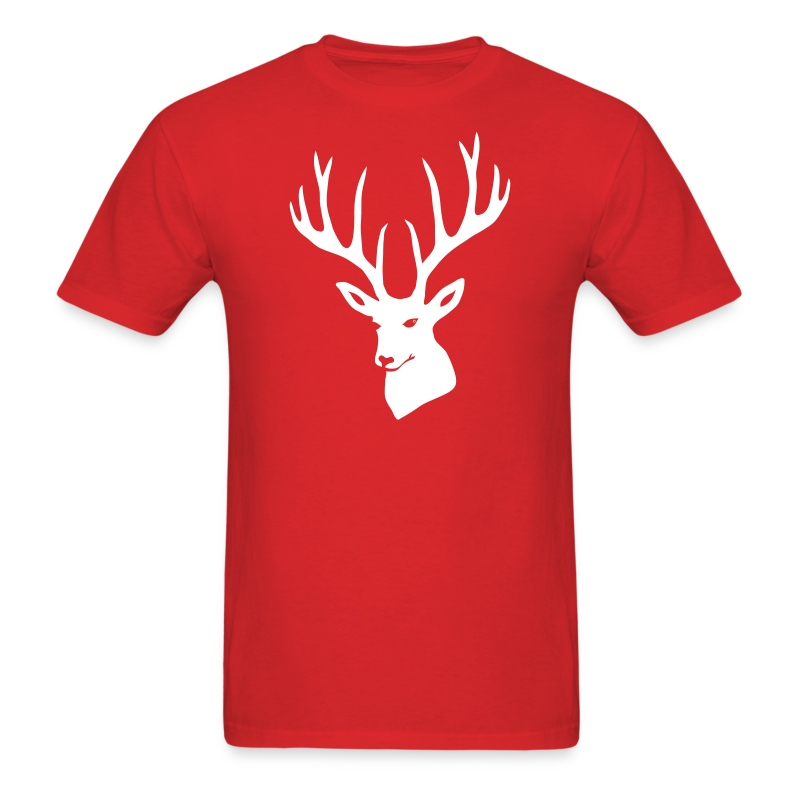 animal t-shirt stag antler cervine deer buck night hunter bachelor - Men's T-Shirt