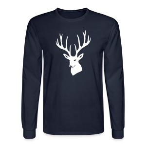 animal t-shirt stag antler cervine deer buck night hunter bachelor - Men's Long Sleeve T-Shirt
