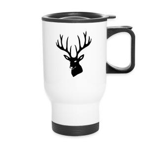 animal t-shirt stag antler cervine deer buck night hunter bachelor - Travel Mug