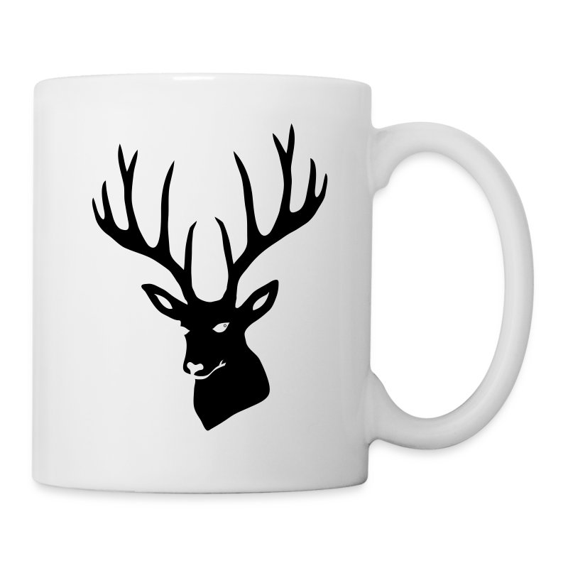animal t-shirt stag antler cervine deer buck night hunter bachelor - Coffee/Tea Mug