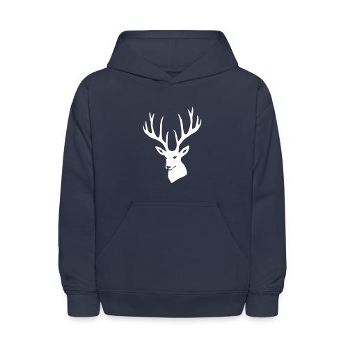 animal t-shirt stag antler cervine deer buck night hunter bachelor - Kids' Hoodie