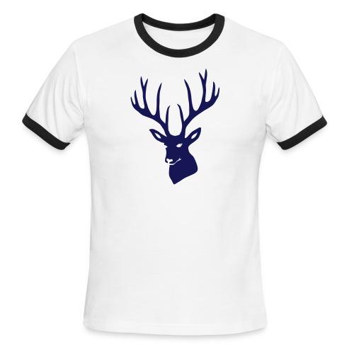 animal t-shirt stag antler cervine deer buck night hunter bachelor - Men's Ringer T-Shirt