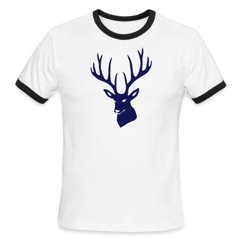 animal t-shirt stag antler cervine deer buck night hunter bachelor - Men's Ringer T-Shirt