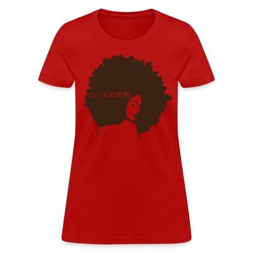 Au Naturale (Red) - Women's T-Shirt