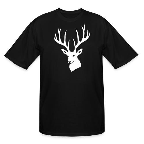 animal t-shirt stag antler cervine deer buck night hunter bachelor - Men's Tall T-Shirt
