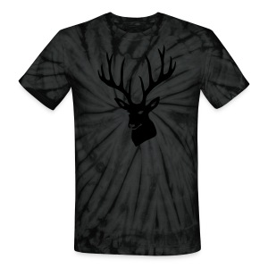 animal t-shirt stag antler cervine deer buck night hunter bachelor - Unisex Tie Dye T-Shirt