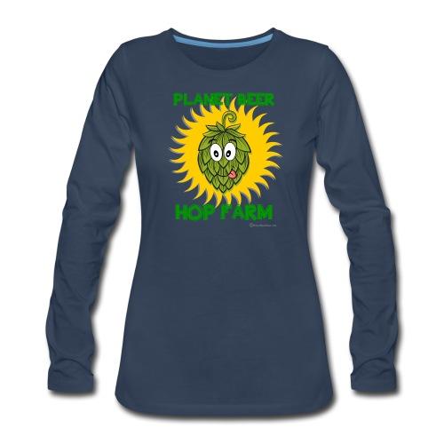 Planet Beer Hop Farm Women's Premium Long Sleeve   - Women's Premium Long Sleeve T-Shirt