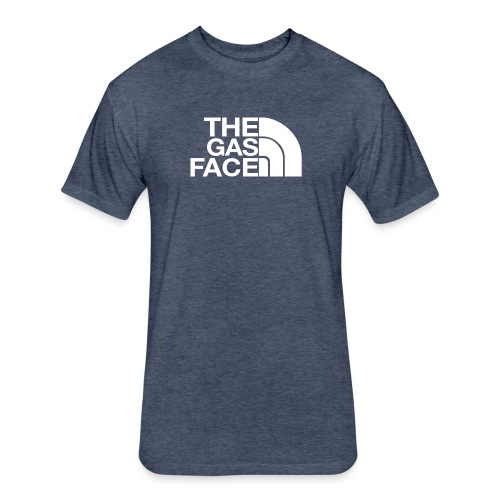 The Gas Face - Fitted Cotton/Poly T-Shirt by Next Level