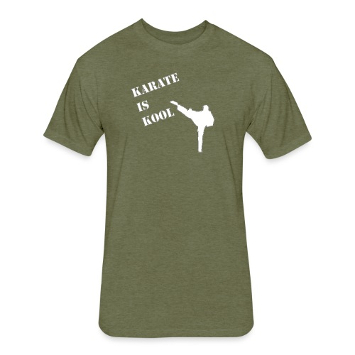 Karate Is Kool - Fitted Cotton/Poly T-Shirt by Next Level