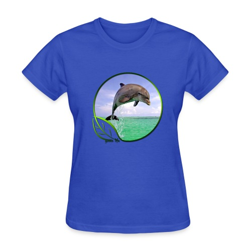 Green Life Series - Dolphin - Women's T-Shirt