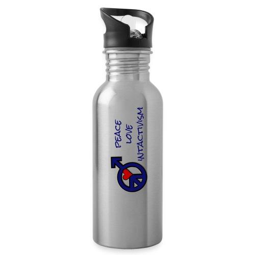 peace love intactivism / SavingSons.org 2 Sides - Water Bottle