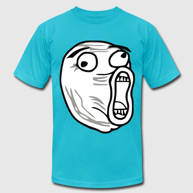 LOL troll - Men's T-Shirt by American Apparel