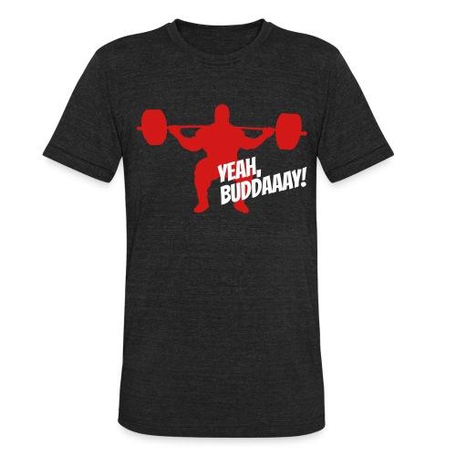 Yeah, Buddaaay! (Heather Black) - Unisex Tri-Blend T-Shirt