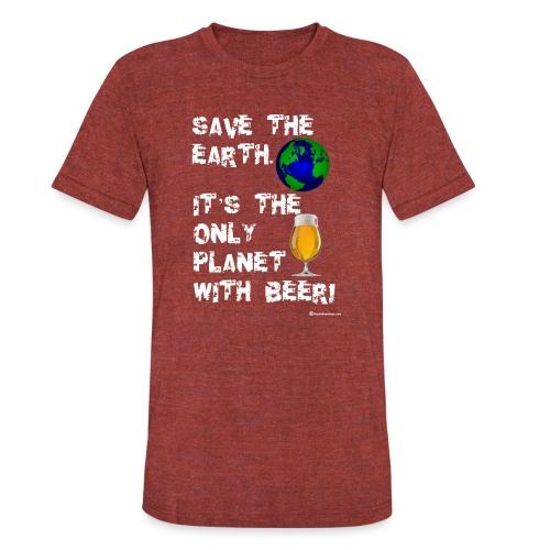 Save The Earth Unisex Tri-Blend T-Shirt - Unisex Tri-Blend T-Shirt