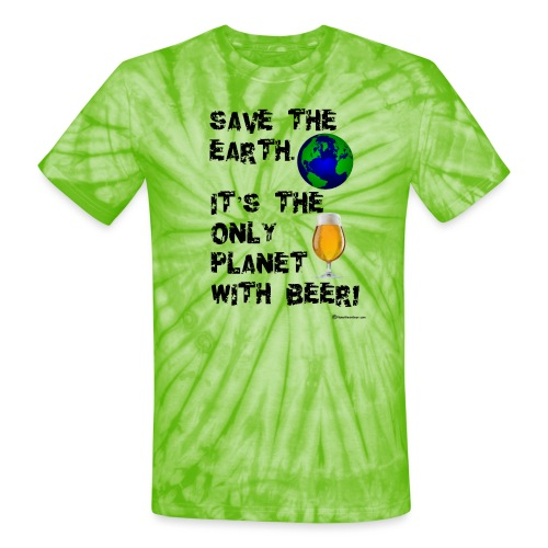 Save The Earth Unisex Tie Dye T-Shirt - Unisex Tie Dye T-Shirt