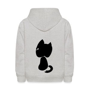 Watching cat - Kids' Hoodie