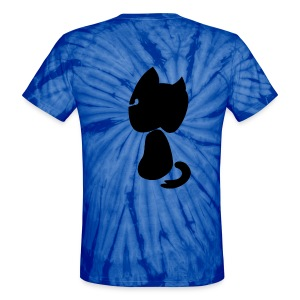 Watching cat - Unisex Tie Dye T-Shirt