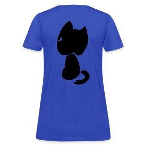 Watching cat - Women's T-Shirt