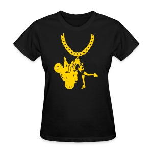 Yo-landi Gold Chain Blk - Women's T-Shirt
