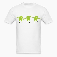 Android Skate Lime T-Shirts
