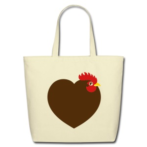 Chicken heart tote - Eco-Friendly Cotton Tote