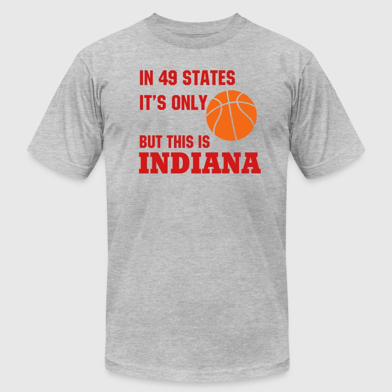 Indiana Basketball - Men's T-Shirt by American Apparel