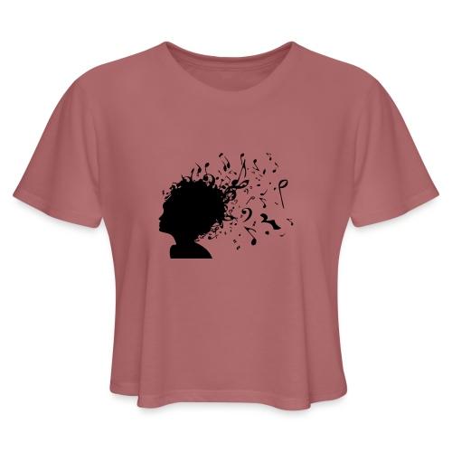 Music Girl Women's Cropped Tee - Women's Cropped T-Shirt