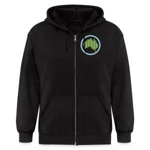 Men's Melbshuffle Zipper Hoodie (Flex, Non-sleeve) - Men's Zip Hoodie