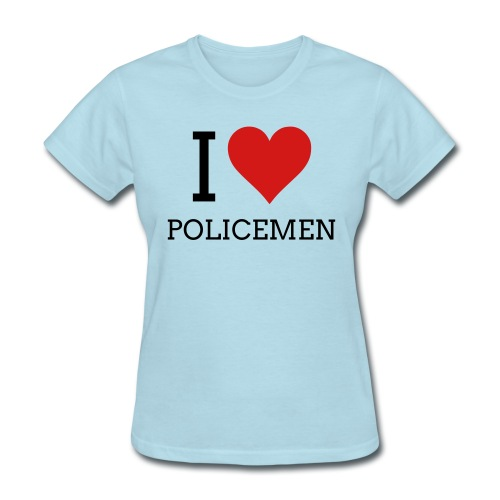 Paris Hilton 'I Love Policemen'  - Women's T-Shirt