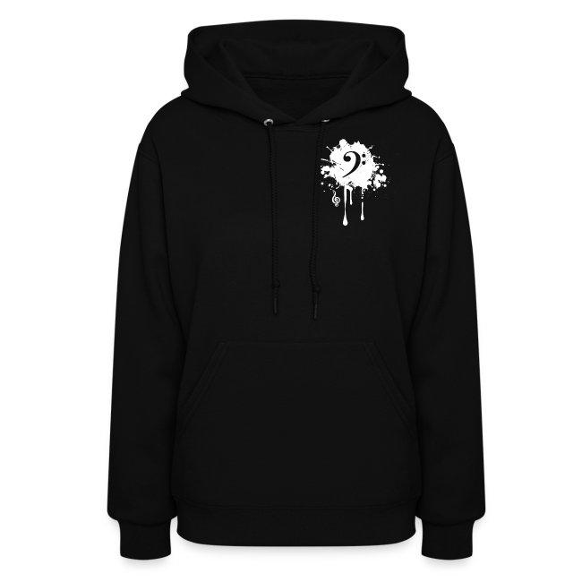 Women's Original Black Hoodie (Non-sleeve)