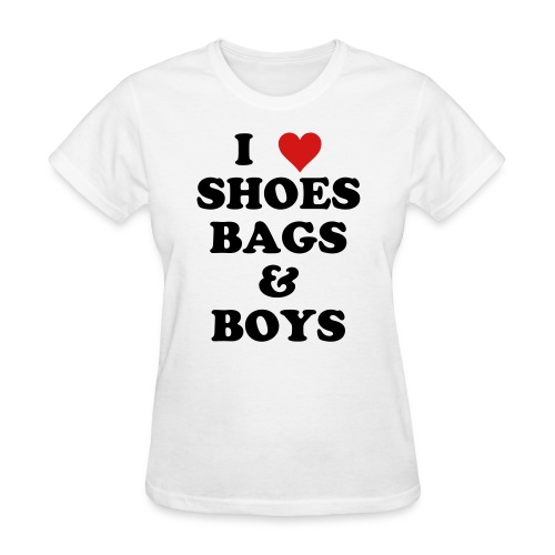Paris Hilton 'I Love Shoes Bags Boys' shirt - Women's T-Shirt