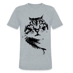 Tabby Staredown - Unisex Tri-Blend T-Shirt by American Apparel