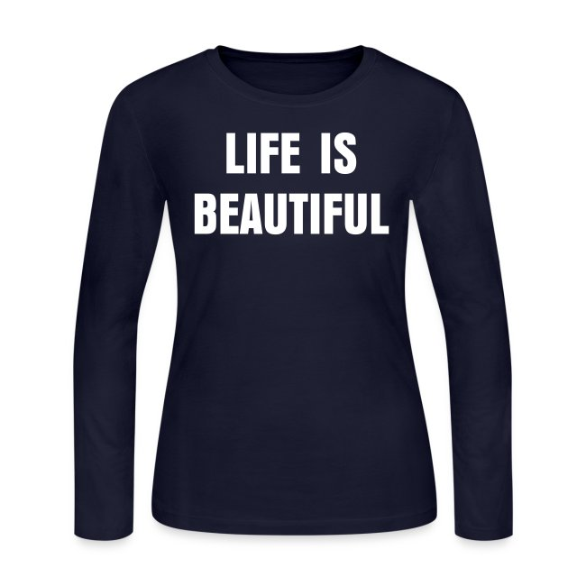 Paris Hilton 'LIFE IS BEAUTIFUL' shirt