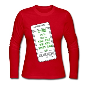 I am, he is - Women's Long Sleeve Jersey T-Shirt