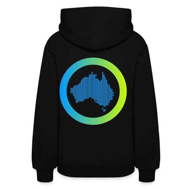 Women's Melbshuffle Hoodie (Gradient, Non-sleeve)