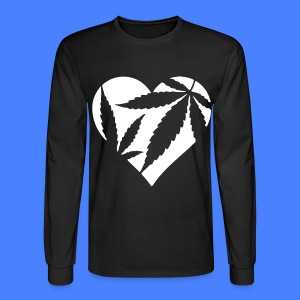 Marijuana Heart Long Sleeve Shirts - Men's Long Sleeve T-Shirt