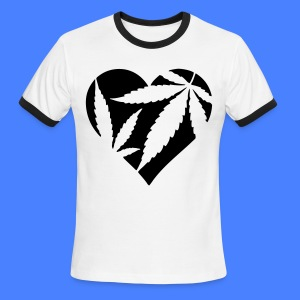 Marijuana Heart T-Shirts - Men's Ringer T-Shirt