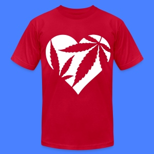 Marijuana Heart T-Shirts - Men's T-Shirt by American Apparel