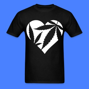 Marijuana Heart T-Shirts - Men's T-Shirt