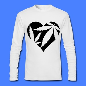 Marijuana Heart Long Sleeve Shirts - Men's Long Sleeve T-Shirt by Next Level